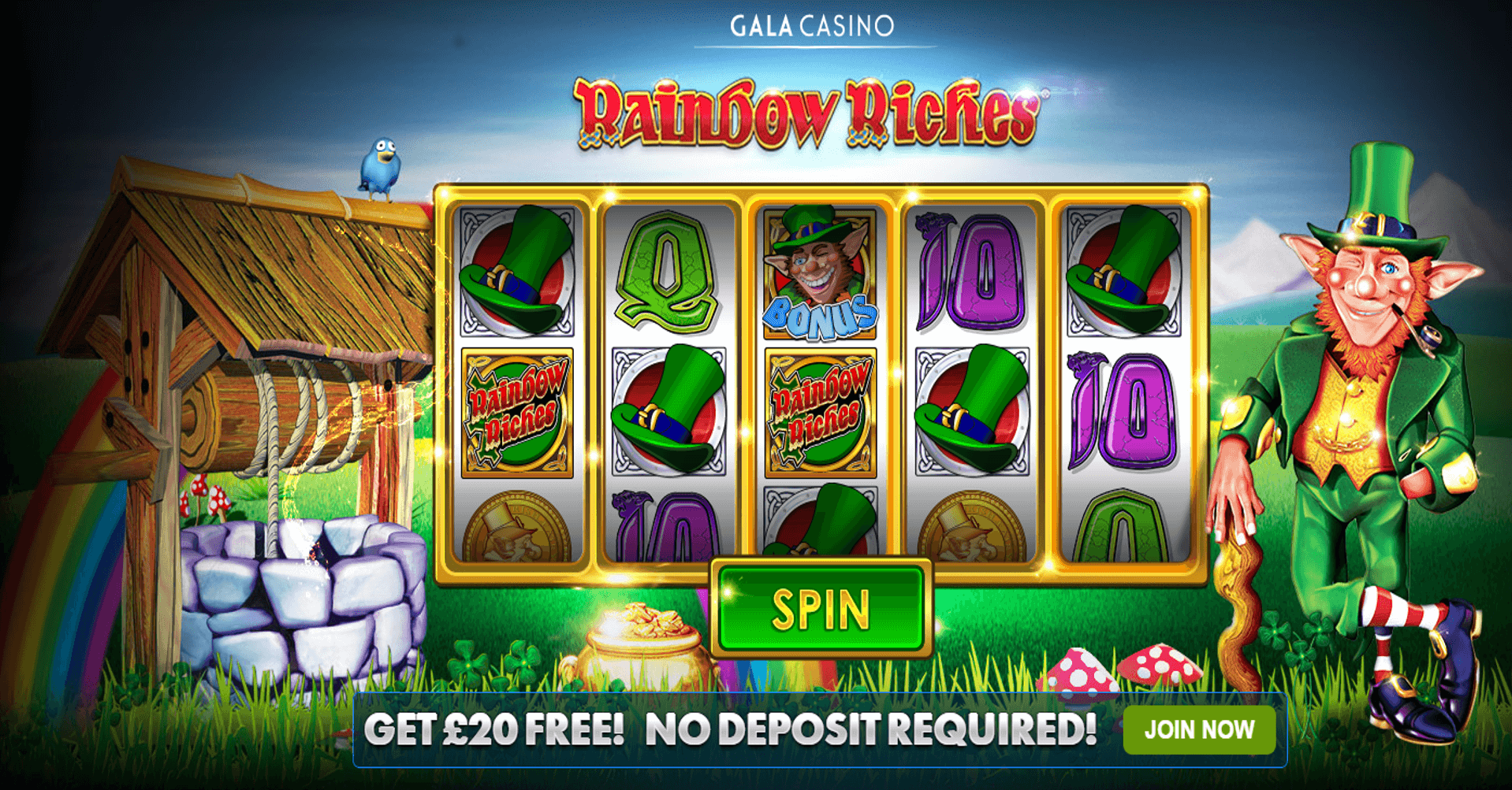 Rainbow Riches £20 Free