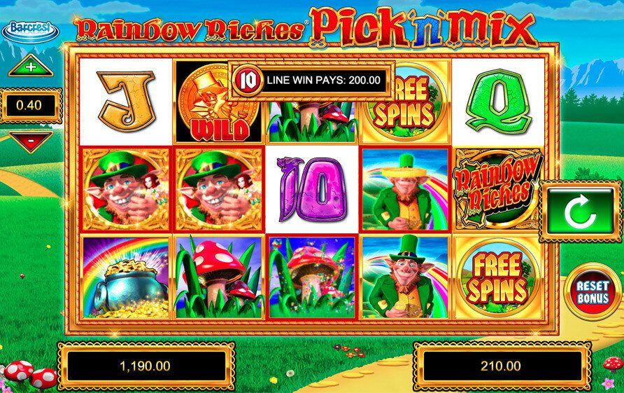 rainbow riches pick n mix free play