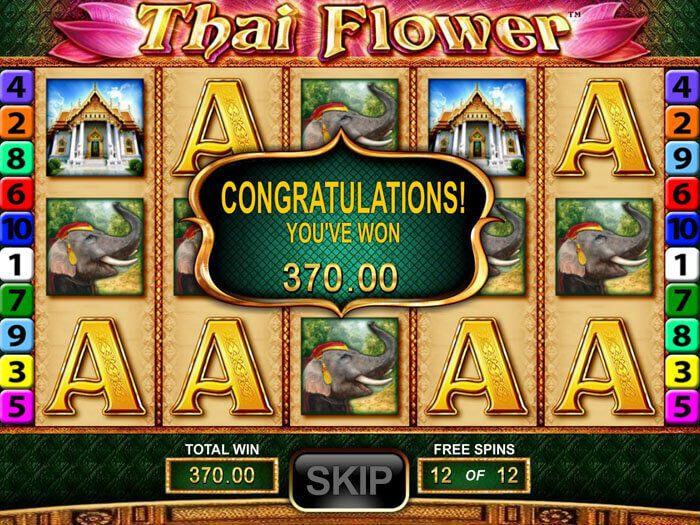 Thai flower slot machine