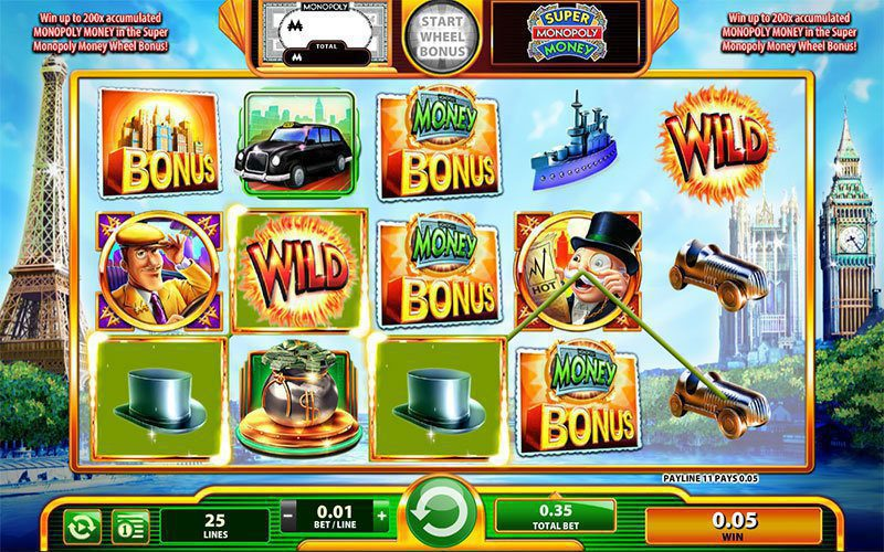 Super Monopoly Money Slot bonus