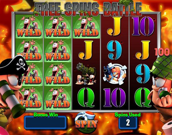 Worms Slot free spins