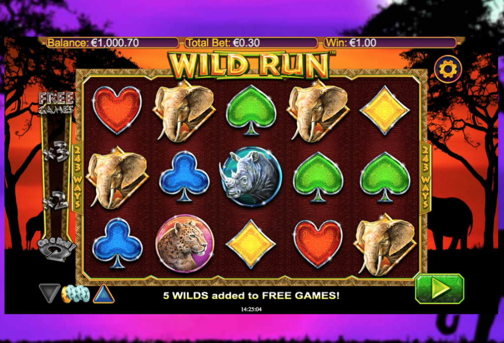 the wild run slot machine