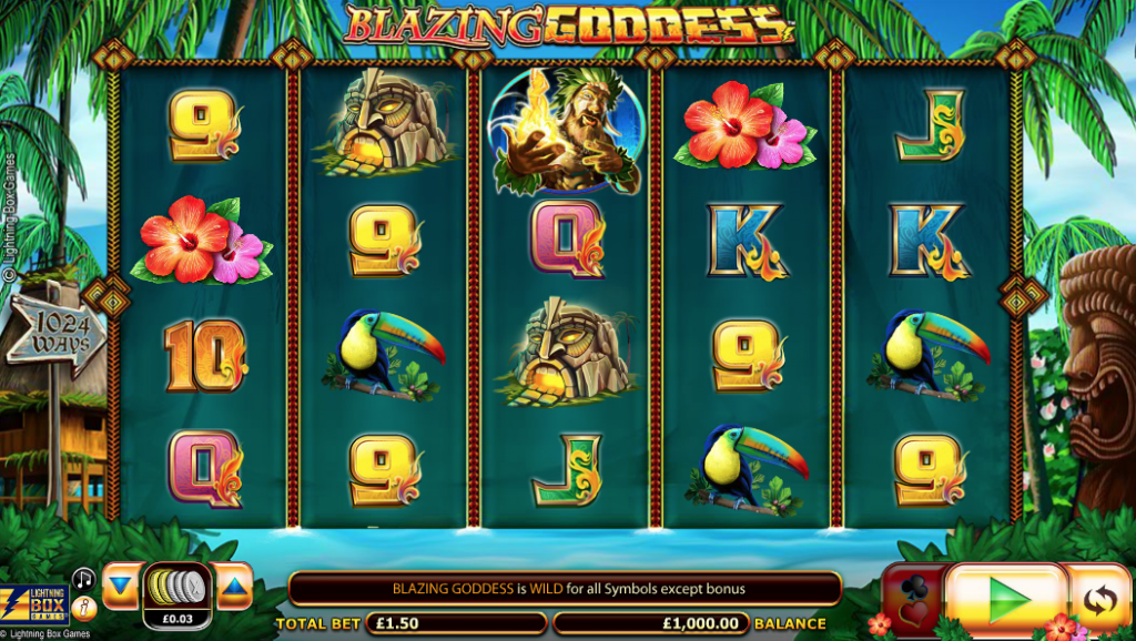 Blazing Goddess Slot Machine