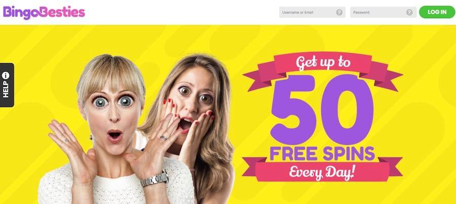 bingo besties with £80 bingo bonus and 50 free spins