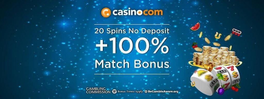 Casino.com 20 Free Spins No Deposit Required