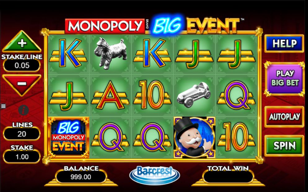 Play Monopoly Big Event Slot Machine