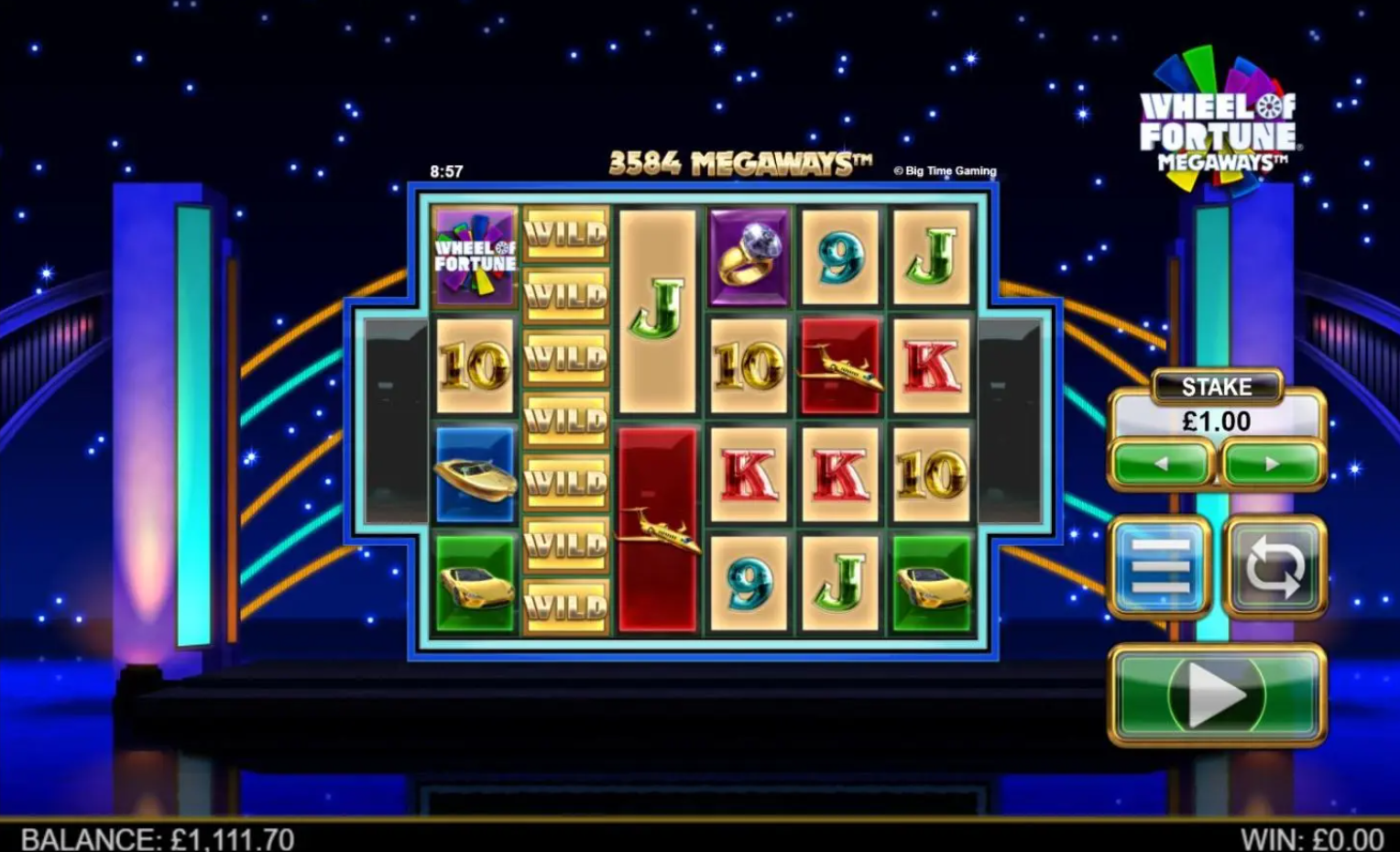Wheel of Fortune Megaways slots