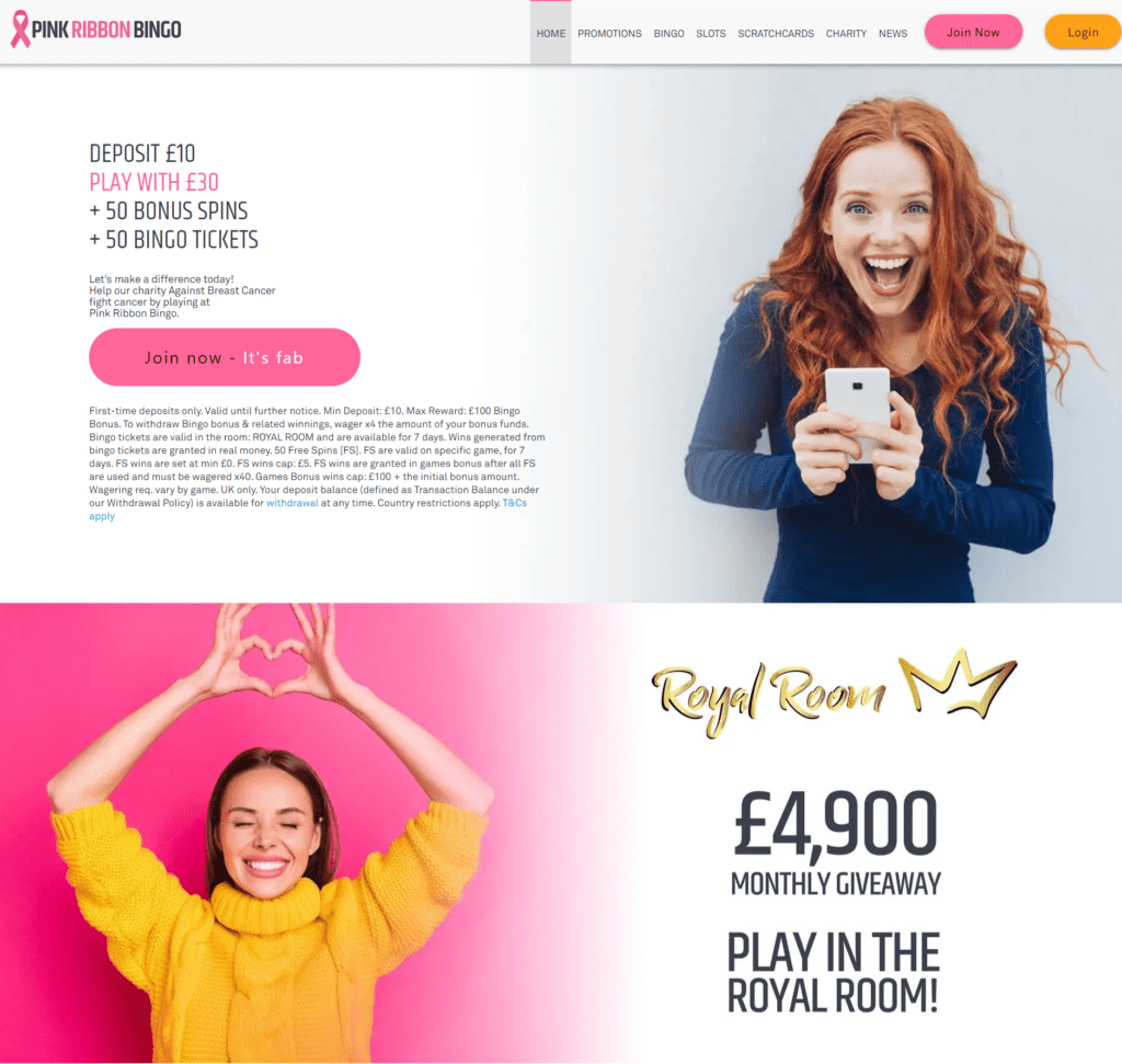 Pink-Ribbon-Bingo-Online-Bingo-Charity-Against-Breast-Cancer-Support