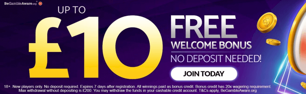 mFortune Casino £10 no deposit bonus